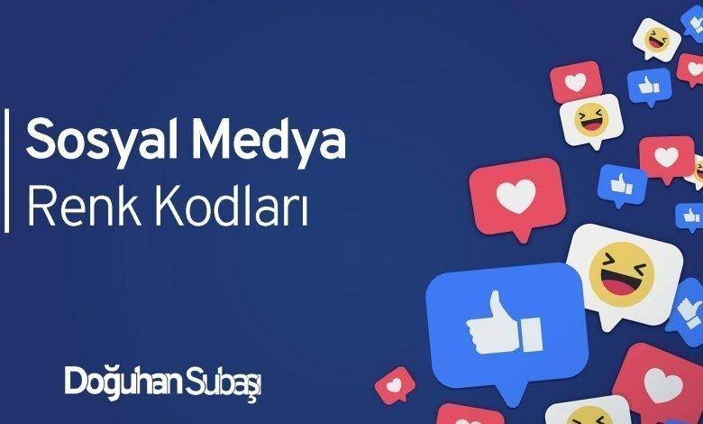 Sosyal Medya Renk Kodları